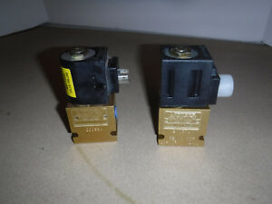 Lot Of Two 2 Vickers 20057a Sv4 10 0 6t 24dc Electric Solenoid Valve Nos