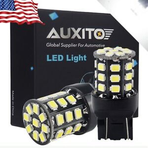 Auxito 7443 7440 Led Super White 2x 33smd Brake Tail Stop Signal Light Bulbs A