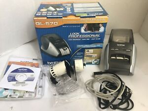 Brother Ql 570 Label Printer Includes Starter Label Rolls Free Ship