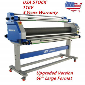 Pro 60 Inch Full auto Take Up Large Format Hot Cold Seal Laminator Machine Usa