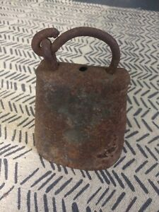 Antique Cowbell 6 Great Patina Collectible