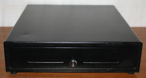 Cash Drawer Td75 20085ab Black Box W Key Under Register Tw70420 00072