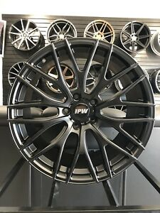Brand New Set 19 Black Mesh Staggered A1 Style Rims Wheels Fits Jdm 5x114