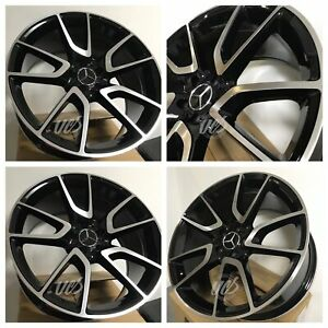 19 Amg E43 Style Black Staggered Rims Wheels Fits Mercedes Benz C280 C320 C350