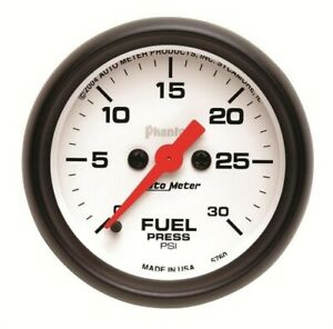 Auto Meter Phantom Series Fuel Pressure Gauge 5760 0 30 Psi