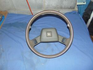 Ford Festiva Steering Wheel With Center Horn Buttons Brown 88 89 90 91 92 93