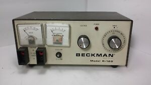 Vintage Beckman R 120 Power Supply Used Tested Working