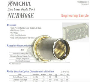 Nichia Nubm06 440nm 450nm 4w High Power Multi ld Bank Blue Laser Diode Tin pin