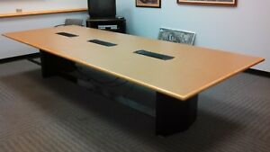 Executive Large 12 X 4 5 Conference Table Office Furniture With Data Port