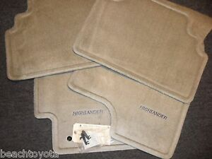 2002 2003 Highlander Carpet Floor Mats Ivory Genuine Toyota Pt208 48010 10