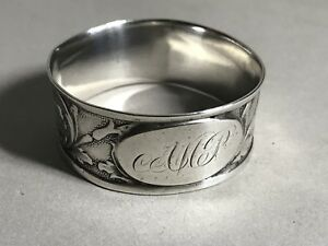 Antique American Coin Silver Napkin Ring Engraved Dated 1850