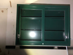 Lab Casework Overhead Cabinet Green 42 x36 x12 Deep