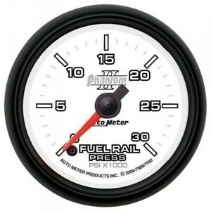 Auto Meter Phantom Ii Fuel Rail Pressure Gauge For 03 07 Dodge 5 9l Cummins