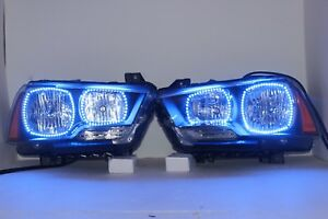 Dodge Charger 11 14 Pre built Headlights Led Rgb Angel Eyes Halo Ring