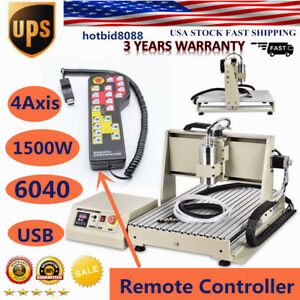 4 Axis Usb Cnc 6040 Router Engraver Drilling Milling Machine controller rc Usa