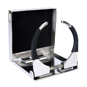 Universal 304 Stainless Steel Folding Cup Drink Holder For Marine Yacht Truck Rv