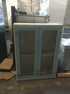 Lab Casework Overhead Cabinet Blue 3 x4 x1