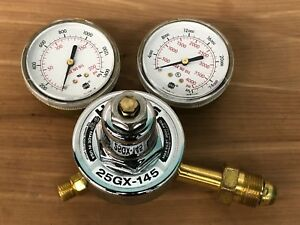 Harris 25gx 145 Cga 580 Compressed Gas Regulator W Dual Gauges