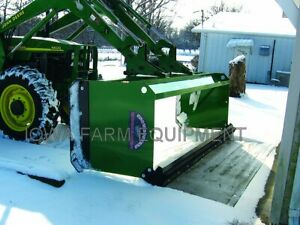 Snow Pusher 8 With Rubber Edge John Deere 400 500 Series Quick Attach