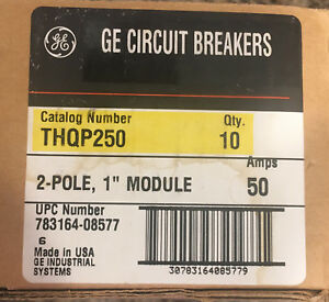 General Electric Circuit Breaker Thqp250 Lot Of 10