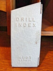 Vintage Huot St Paul Drill Index Dispenser 13 Sizes Pat 1930617 1 16 1 4