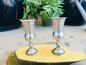 Russian Kiddish Vodka Cups Silver