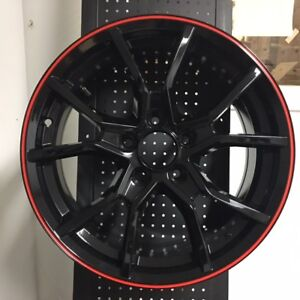 18 2018 Fk8 Type R Style Fits Honda Civic Si New Black Red Lip Alloy Wheels