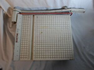 Boston 2612 Paper Cutter 12 Trimmer Heavy Duty Guillotine Usa Made