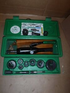 Greenlee 7806sb Quick draw Hydraulic Punch Driver Knockout Set W Punches