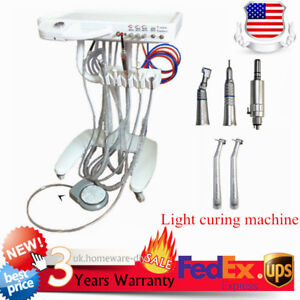 Portable Dental Delivery Mobile Cart Unit Equipment high Low 4 hole Handpiece
