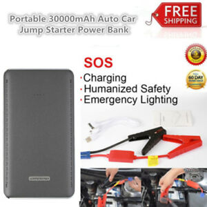 Portable 30000mah 12v Auto Car Jump Starter Power Bank Booster Battery Charger