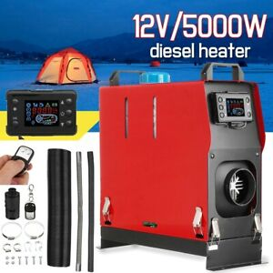 12v 5kw Air Diesel Heater 1 Hole All In One Lcd Monitor For Trucks Boats Bus