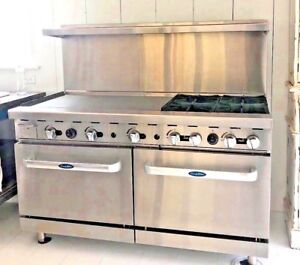 Brand New Atosa Ato 36g4b 60 Natural Gas Range 4 open Burners 36 Griddle