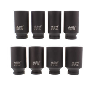 Closeout Abn Axle Nut Socket 1 2 Drive 8pc Metric Set For Vehicle 12pt