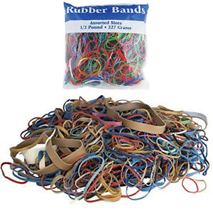 24 Packs Bazic Rubber Bands Assorted 1 2 Half Pound 227g Multi Color Sizes Craft