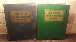 2 Motor s Truck And Auto Repair Manuals 16th Edition And 25th
