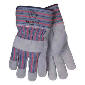 Tillman 1505b Shoulder Split Cowhide canvas Multi purpose Gloves Lg Pkg 12