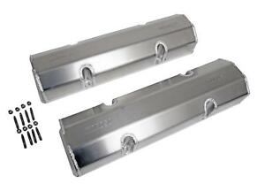 Moroso Fabricated Aluminum Valve Covers 68326 Chevy Sbc 283 305 350 400 Natural