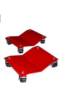Auto Dolly Wheel Dollies Car Steel Red 1500 Lbs Per Dolly Pair M998101