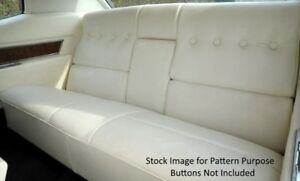 1970 Cadillac Deville Hardtop Rear Seat Cover With Armrest