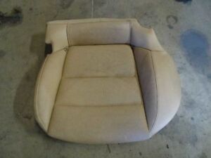 13 Porsche Panamera 970 Rear Left Driver Side Seat Lower Cushion Pad Leather Tan