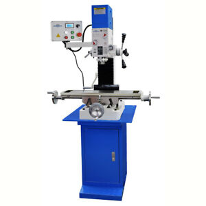 Pm 727 v Vertical Bench Top Milling Machine W stand 3 axis Dro Free Shipping
