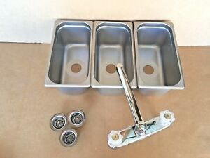 Small 3 Compartment Sink Set For Portable Concession Stands