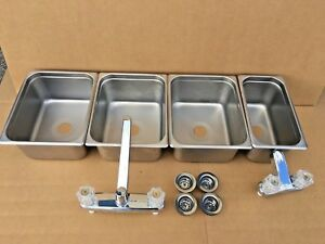 Concession Sink 3 Large 1 Small Hand Wash Sink 4 Compartment
