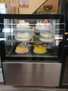 Commercial 34 Standing Glass Display Deli Sandwich Cake Refrigerator Cabinet