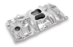 Weiand Street Warrior Intake Manifold Chevy Bbc 396 454 Fits Oval Port Polished