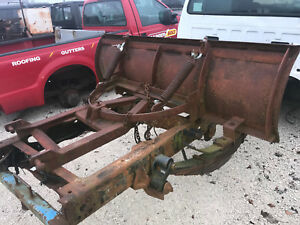 Used 6 Full Trip Snow Plow For Tractor Or Skid Steer Non hydraulic Angle