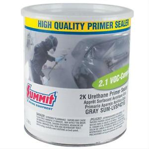 Summit Racing Paint Single Stage Low Voc Primer Sealer Flat Gray 1 Gallon Each