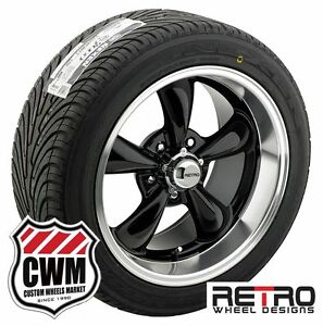 18 Inch 18x8 18x9 Retro Black Wheels Rims R t5 Tires For Chevy Cars 1953 1981