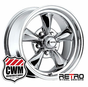 15 Inch 15x6 15x8 Chrome Wheels Rims For Chevy Chevelle Malibu 1964 1972
